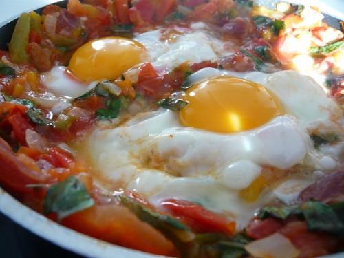 cuisine, nature de ducasse, oeuf au plat, pays basque, légumes d'été, cuisine domino,