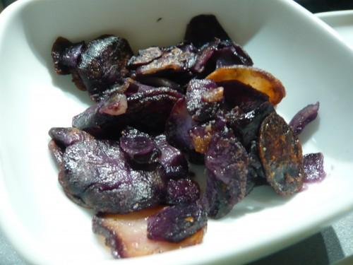 couleurs,cuisine,violet,vitellote,risotto à la trévise