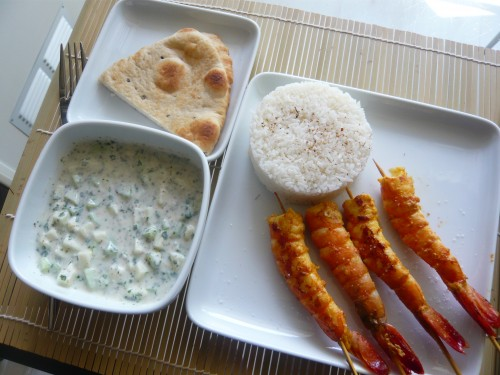 cuisine indienne,beena paradin,épices,gambas,raita,riz basmati,répertoire culinaire