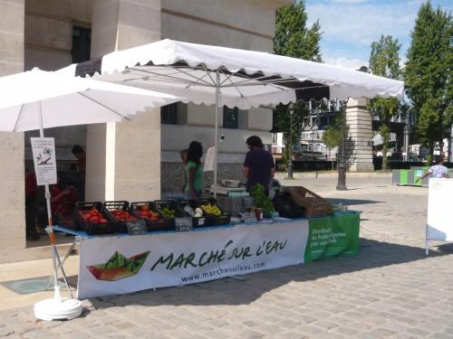 marché sur l'eau,paris 10eme,rotonde stalingrad,légumes,tomates,salade,locavore,manger local,circuit court