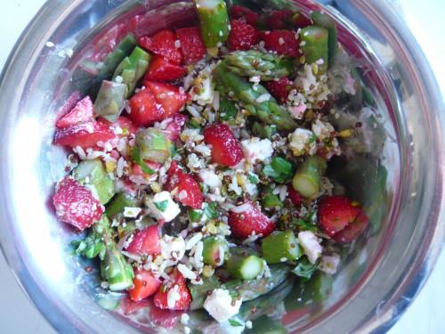 printemps,fraises,asperges,aliments de saison,salade complète,marions les produits de saison,alain passard