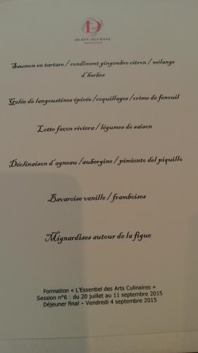 alain ducasse,formation culinaire,gastronomie,centre de formation alain ducasse,repas dégustation,évaluer un repas