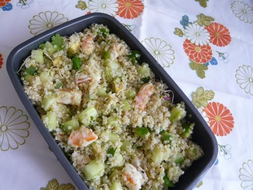 alimentation,nutrition,bento,luncbox,salade-repas,quinoa,manger avec 5 sens,goût,savourer son repas