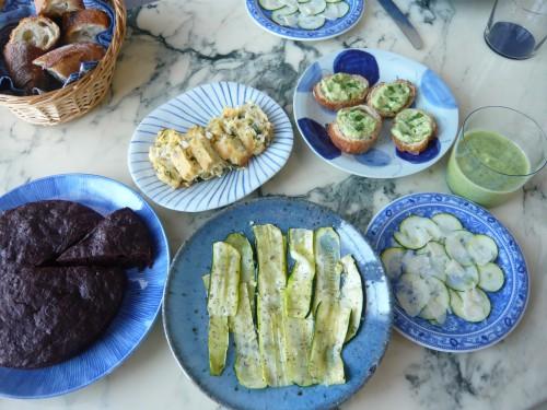 courgette,légumes d'été,cuisiner la courgette,soupe froide,antipasti,cuisine facile