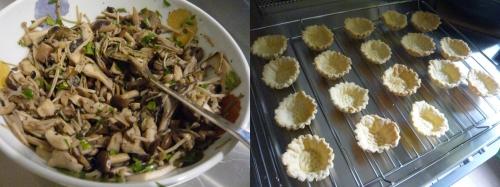 cuisiner chez les autres,inviter des amis à dîner,que faire pour l'apéritif,champignons,tartelettes aux champignons,vacances au japon