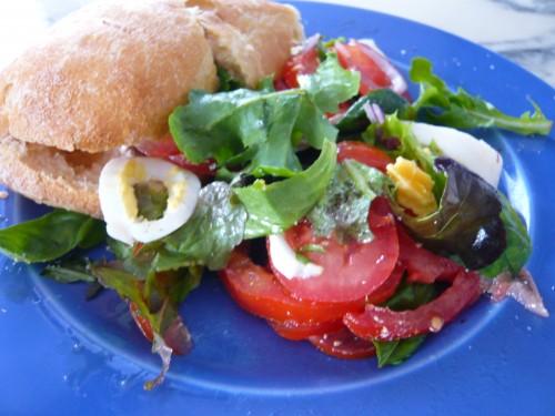 pan bagnat, pique-nique, été, sandwich, nice, alimentation nomade, crudités, vinaigre la guinelle