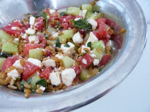 samossa épinards feta,magazine saveurs,cuisine,épicerie rap,pignons,salade feta pastèque concombre