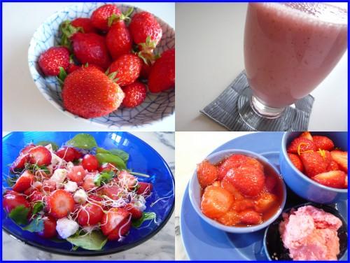 alimentation,cuisine,fruits,fraise,salade rouge,dessert