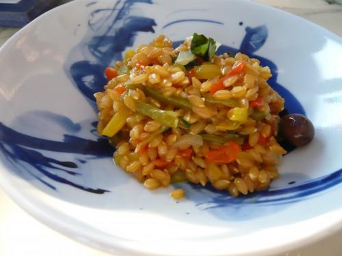 alimentation,cuisine,nature de ducasse,petit épeautre, esterelle payani, poivrons, abricots