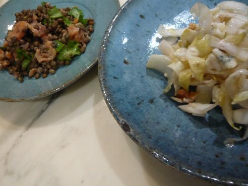 alimentation, cuisine, salades, hiver, endives, lentilles, légumes, légumes secs