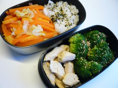 alimentation, cuisine, bento, lunchbox, déjeuner au bureau, poulet