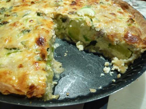 cuisine facile, quiche, tarte salée, quiche aux courgettes, légules d'été, organisation des repas, prévoir les repas