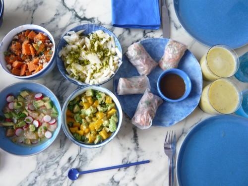 brunch maison, brunch vegetalien, cuisine vegetarienne, legumes, fruits, ona maiocco, vegetarisme, flexitarisme