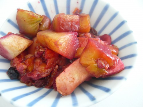 fruits,dessert,fruits au four,nanashi,kaori endo,cantine bio,japon,bento,paris,fruits d'hiver,fruits cuits