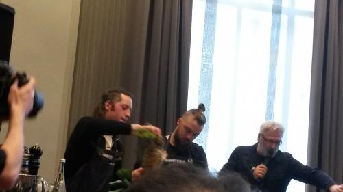 omnivore paris 2016,jeune cuisine,chefs,gastronomie,artisans d'exception,olivier helibert,florent ladeyn,xavier pensec,shinya inagaki