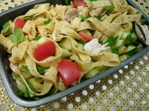 bento,déjeuner facile,déjeuner au bureau,cuisine domino,lunchbox,pâtes, salade de pâtes