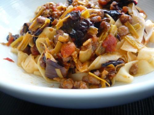 italie,cuisine italienne,pâtes,cuisine de saison,poireau,automne